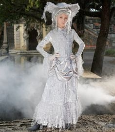 ghostly girl costume - there's no R.I.P. for your ghostly apparition from the Victorian era.