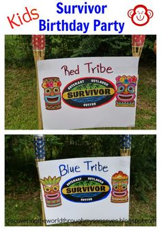 Kids Survivor Themed Birthday Party