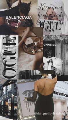 Iphone Wallpaper Tumblr Aesthetic, Black Aesthetic Wallpaper, Iphone Background Wallpaper, Aesthetic Backgrounds, Aesthetic Wallpapers, Black Wallpaper, Vogue Wallpaper, Bad Girl Wallpaper, Chanel Wallpapers