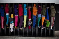 Скульптуры из людей: проект от Cie Willi Dorner