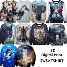 Online Shop Animal 3D print women t shirt top long sleeves tiger cat elephant zebra leopard tees & tops clothing harajuku estampado animal|Aliexpress Mobile