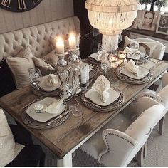 These Rustic Dining Rooms Are The Definition Of Country Chic, Home Decor, What a beautiful set up ready for spring! Thank you for the You'll love our affordable rustic and contemporary dining room sets, tables and chairs fro. Dining Room Design, Dining Room Furniture, Dining Room Table, Design Table, Patio Dining, Furniture Design, Furniture Ideas, Console Tables, Plywood Furniture