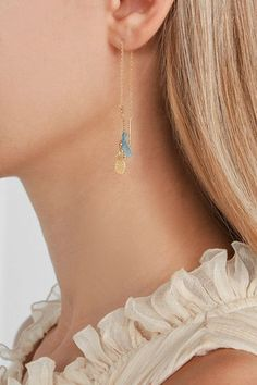Post and chain fastening for pierced ears Designer color: Arctic Imported