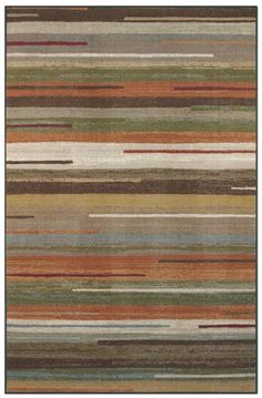 Declan Multi Area Rug - Tones of brown, cream, green and burnt orange keep with a neutral fall color pallet making a perfect addition to any space with a contemporary style.