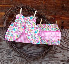Baby Dress with bloomers size 6 month pink by SouthernSister2, $25.00