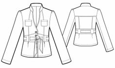 Jacket with Tie Belt for Ivory Suit - Sewing Pattern #5739 - $2.49 (Enter your measurements for a custom-size pattern!)