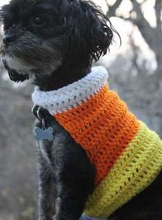 Crocheted Dog Sweaters