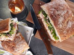Pressed Picnic Sandwich with Roasted Red Pepper and Pepperoncini Spread #BestThingOnSlicedBread