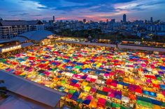 The Chatuchak Market at night