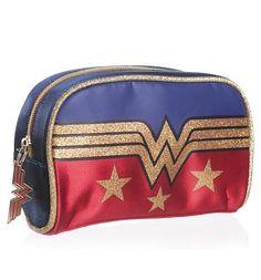 Retro Wonder Woman Logo Wash Bag