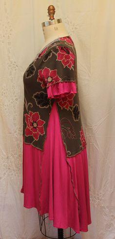 XL robe bohème altéré femmes vêtements haut bas robe par MilaLem