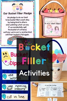 Teach students to be bucket fillers & build your classroom community with these engaging & fun activities Community Building Activities, Building Classroom Community, Small Group Activities, Sorting Activities, Bucket Filler Book, Bucket Fillers, Bucket Filler Activities, Classroom Expectations, Whole Brain Teaching