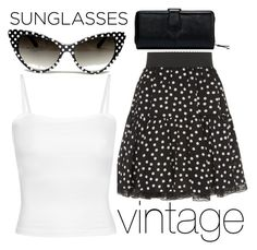"""retro sunglasses"" by j-n-a ❤ liked on Polyvore featuring Dolce&Gabbana"