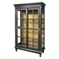 China cabinet!  love! I would maybe paint the back a different color just to add a pop of color