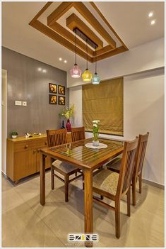 House Ceiling Design, Small House Interior Design, Ceiling Design Living Room, Kitchen Room Design, Home Room Design, Interior Design Kitchen, Dinning Table Design, Dining Decor, Dining Table