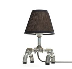 Great industrial themed lamp.  I see a trip to the hardware store in my future.