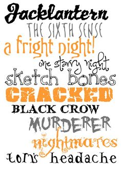 10 free halloween fonts for you - Color Me Meg