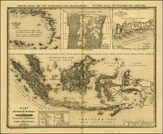 Indonesia ~ Map of the Dutch colonial possessions in 1840 – including Dutch East Indies, Curaçao and Dependencies, Suriname and Dutch Gold Coast