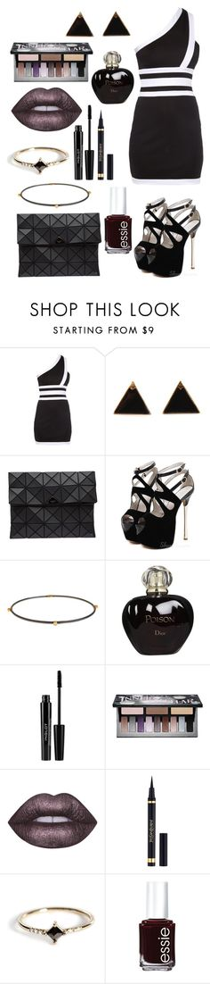 """""""2O16 #O58"""" by cherry-b0mb ❤ liked on Polyvore featuring Balmain, Bao Bao by Issey Miyake, Yossi Harari, Christian Dior, Inglot, Kat Von D, Lime Crime, Yves Saint Laurent, Jennie Kwon and Essie"""