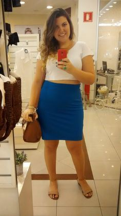 Curvy - Cropped Top - Bandage skirt for curvy girls