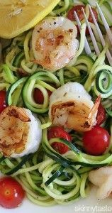 Spicy Tomato Shrimp with Zucchini Pasta | Check out more Medifast tips and recipes at http://medifastmn.com/blog
