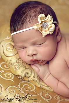 Buttercream Ivory Yellow Baby Headband by bellasbowtique2008