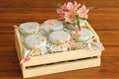 Potes de doces em Caixotes para lembrança dos padrinhos de casamento Rústico Chic