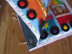 How To Sew Quiet Book Pages   @KirKatJoy an idea for binding