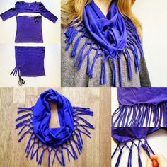 How To Make a Fashion T-Shirt Scarf