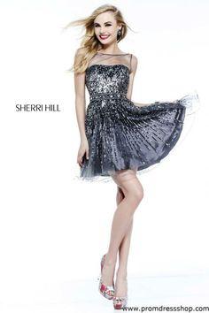Sherri Hill Short Dress 8525 at Prom Dress Shop