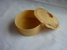 Vintage Celluloid Hair Reciever, Hair Box. $10.00, via Etsy.