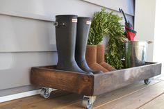 DIY Wooden Shoe Tray - Sweet Threads