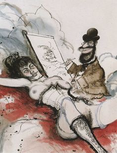 Toulouse Lautrec by Ronald Searle