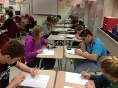 Speed dating (exchanging math problems) in the math classroom.