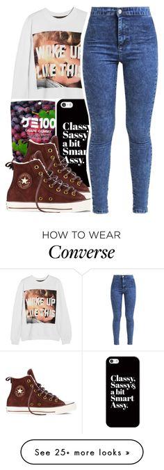 """Untitled #185"" by mxdnightziam on Polyvore featuring moda, Untitled & Co, Casetify, Converse, Miss Selfridge, outfit, denim, converse, Beyonce i BeyHive"