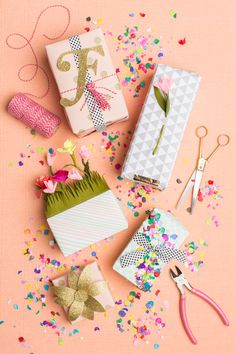 We love gift wrap especially when it is themed around the seasons! Since we are getting into Spring, check out our spring gift wrap! It is fun to make and looks absolutely stunning!