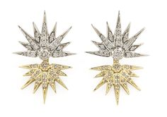 Genesis H.Stern collection. Eclipse earrings in yellow and Noble Gold with diamonds.