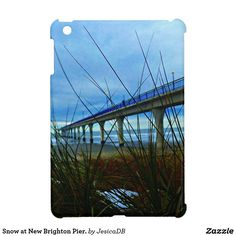 Snow at New Brighton Pier. iPad Mini Cover