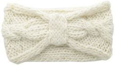 San Diego Hat Women's Cable Knit Headband, Ivory, One Size