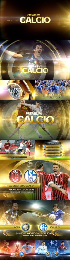 Premium calcio promo pack by Angelsign Studio , via Behance