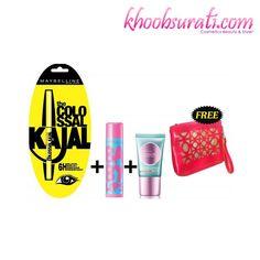 Maybelline Make-up Essentials (Make-up Pouch Free) http://khoobsurati.com/deals/maybelline-make-up-essentials-make-up-pouch-free