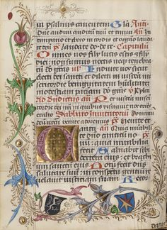 Decorated Initial C; Unknown; or Vienna, Austria; about 1485; Tempera colors, gold leaf, and ink on parchment; Leaf: 17.6 x 13 cm (6 15/16 x 5 1/8 in.); Ms. Ludwig IX 14, fol. 124v; J. Paul Getty Museum, Los Angeles, California