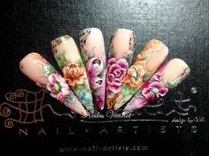 acrylic flat 3d nail art