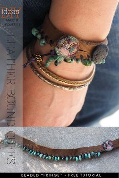 Lots of DIY leather craft tips and tutorials from DiaryofaCreativeFanatic.