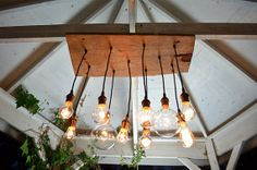 Reclaimed Walnut Barnwood Chandelier with Edison by urbanchandy    over my kitchen table i think :D