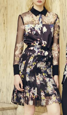 Look from Erdem's 2014 pre collection #resort #lookbook