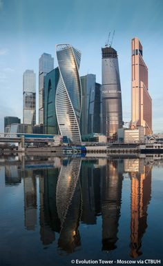 City Palace Tower / Evolution Tower, Moscow, Russia | RMJM