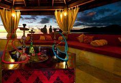Shisha in Dubai, Hookah in Dubai Shisha Lounge, Arabian Nights Theme, Deck Seating, Indian Fusion Wedding, Under Decks, Hookah Lounge, Lounge Design, House Blueprints, Decoration