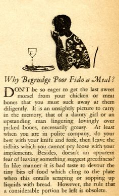 Favorite Vintage Advice: Don't Forget Fido