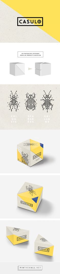 C A S U L O Cooked Insect Packaging by Laura Martinet | Fivestar Branding Agency – Design and Branding Agency & Curated Inspiration Gallery